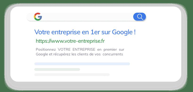 agence web Votre entreprise en 1er sur Google